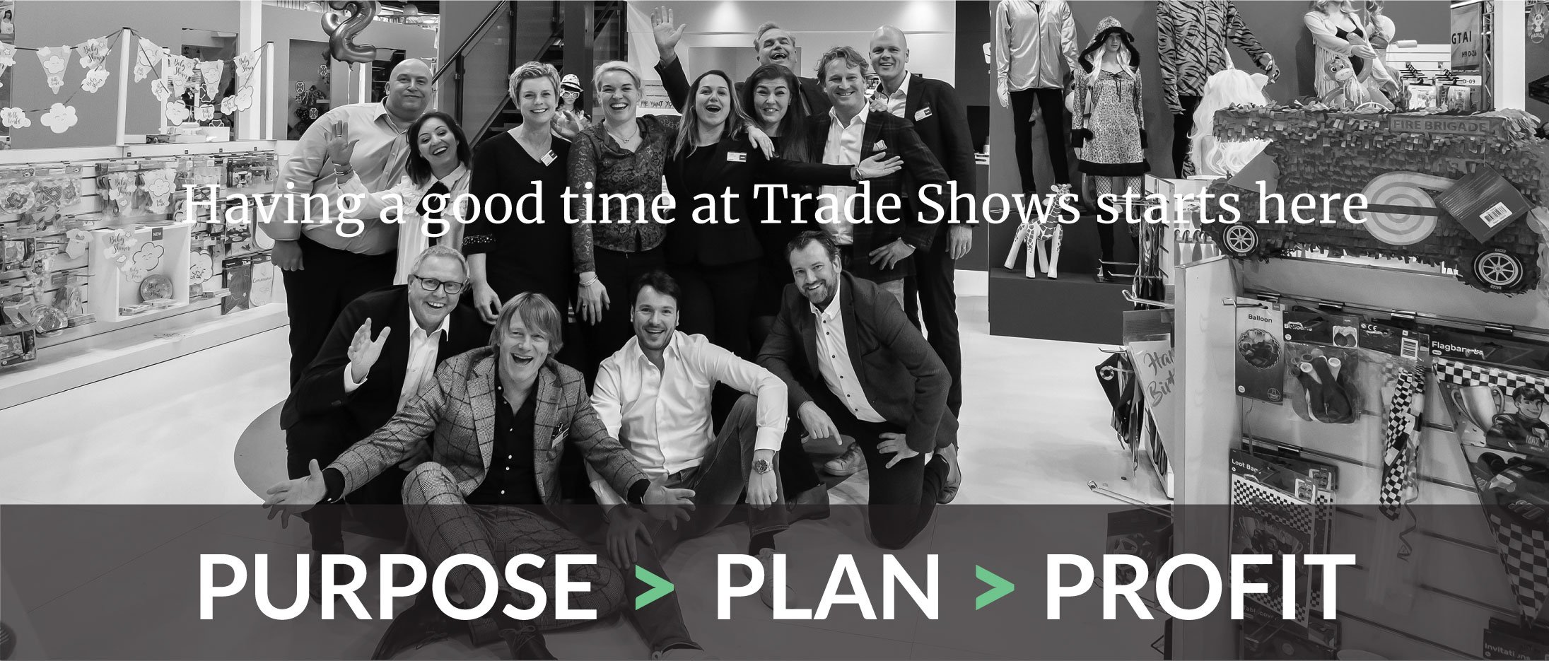 Having a good time at trade shows starts at ExpoCoach. 3 steps to trade show success